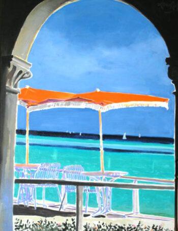 Orange Café Umbrella