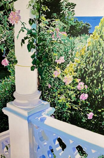 Pillar, Balustrade and Roses